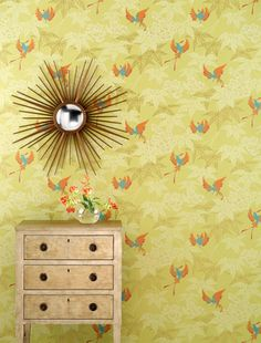 papier peint oiseaux Osborne & Little Grove Garden