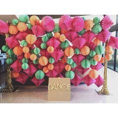 Honeycomb backdrop #jesihaackdesign #dancefloor