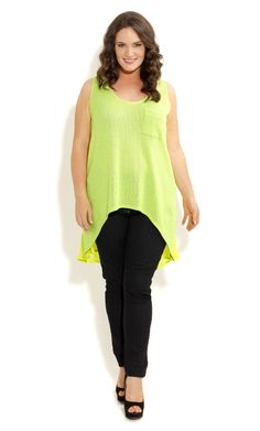 City Chic - SPACE FRONT HI LO TOP -