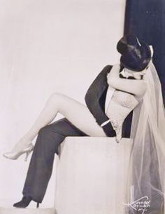 """One of the most popular and creative Burlesque queens of the 1950s, Zorita was famous for her """"half and half"""" act. The openly bisexual beauty performs as bride and groom."""