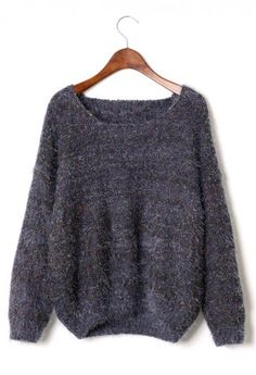 Color Dots Fluffly Sweater in Grey