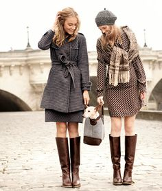Goal: to own a super cute pair of boots this fall! Cute coats too!
