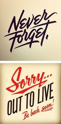 Hand lettering, typography