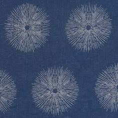 Sea Urchin - Teal/Dove Lee Jofa Fabric GWF-2809-513 Kelly Wearstler, Groundworks Indoor Multipurpose Fabric