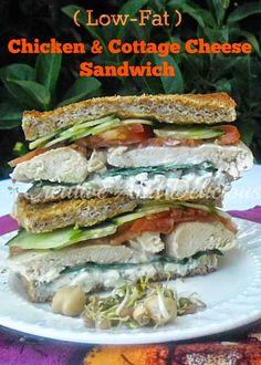 Healthy & delicious Chicken Sandwich (no mayo!)  #Sandwich #ChickenSandwich #Healthy #LowFat