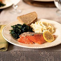 St. Patrick's Day Feast | Roasted Wild Salmon and Dill | CookingLight.com