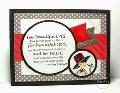 Uptown Girl Stamp found at Stamping Bella. Card by Kadie