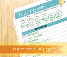 Free Printable Today's Agenda