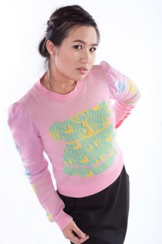 rare alley cat btsey | Betsey Johnson Vintage Alley Cat Sweater by scoutdrygoods on Etsy