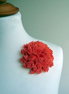 Coral Betty brooch