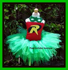 Robin Halloween Tutu Costume Set. This one is cuter even with the tulle.