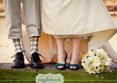 #wedding #bride and groom #shoes #socks