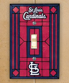 Hummmm.... what two guys do I know that would love to have this? lol decor, loui cardin, cardin nation, st louis cardinals, switch plate, cardin red, washington nationals