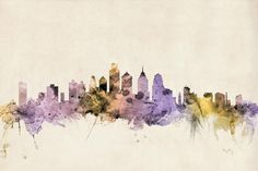 Philadelphia Pennsylvania Skyline Digital Art