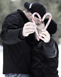 Christmas engagement photo idea
