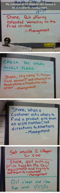 Get it together Shane