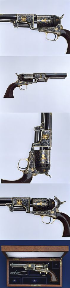 Colt Third Model Dragoon Percussion Revolver, Serial Number 12406 Samuel Colt (American, Hartford, Connecticut 1814–1862)