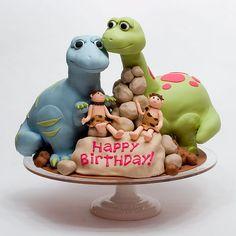 Dinosaur/caveman cake
