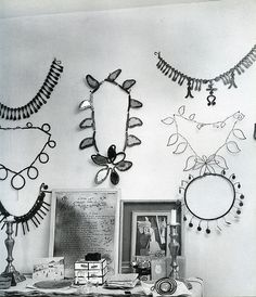 A number of Alexander Calder's jewellery pieces