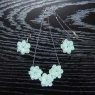 Crochet Earrings And Crochet Pendant Set pendant set, crochet pendant, crochet earrings