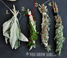 Gifts from the Garden: Homegrown Smudge Sticks - You Grow Girl