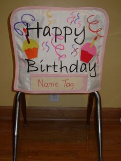 student birthdays, chair covers, birthday classroom, chair birthday, student chair