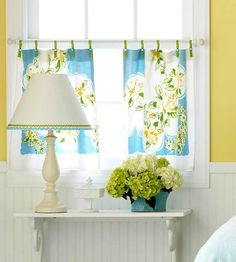 Vintage tablecloth curtains