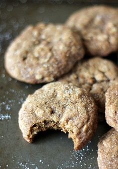 Brown Butter Chewy Ginger Oatmeal Cookies