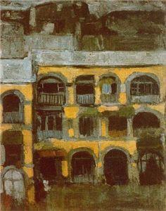 A+blue+house+-+Pablo+Picasso