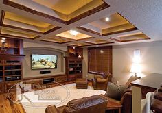 Home theater coffered ceiling kits