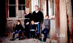 Family photo urban grunge