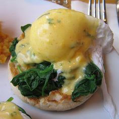 Eggs florentine. Even better than the original Benedict. I dust mine with paprika.
