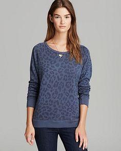 Luxe Sweatshirt - Slouchy Leopard Print   Bloomingdale's