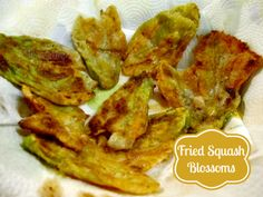 How to make Fried Squash Blossom Flowers fresh from the garden #BHGsummer