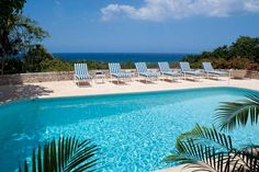 Hang #poolside at the three-bedroom Ackee 8 private #villa in #Jamaica
