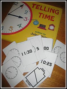 "Telling Time Printable Card Game (a matching game like ""Old Maid"")"