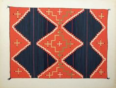 Navajo blankets, Russell Vernon Hunter & Chapman of the Library of Anthropology in Santa Fe