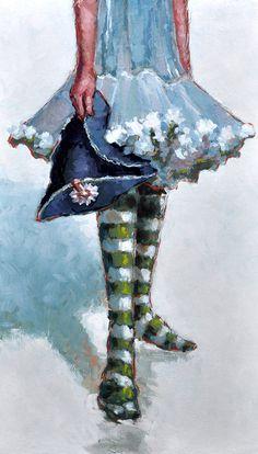 Large original fine art impressionist figure by LonBrauerStudios, $750.00    ...BTW,Please Check this out:  http://artcaffeine.imobileappsys.com