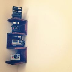 Wall Mounted Corner Shelf by sooperdoopercrafts on Etsy, $44.99
