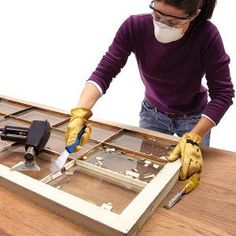 How to reglaze a window - because some of you asked when I did this tutorial: http://pinterest.com/pin/35762235/