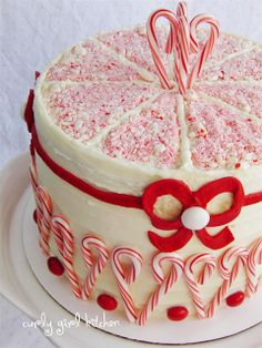 Peppermint Crunch Coconut Christmas Cake