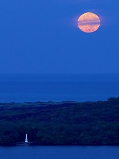 Moon, Captain Cook Monument, Big Island, Hawaii