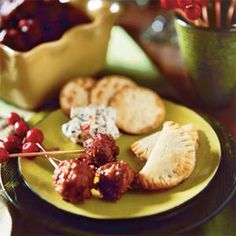 "Cranberry Meatballs Christmas Appetizer from Southern Living:  Good reviews and one lady won   ""best dish"" at her large gathering!  One person's advice was to add minced onion instead of onion powder and steak seasoning instead of thyme.  Looks like I will be taking this to my sister's Christmas Eve Party this year!"