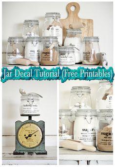 Jar Decal Tutorial (Free Printables)