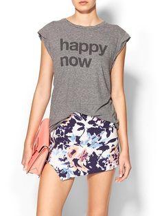 Pam & Gela Happy Now Tee - Heather grey