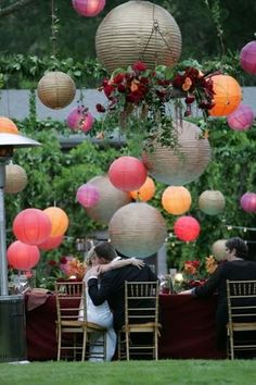 paper lanterns love this color combo
