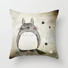 Totoro and friends Throw Pillow