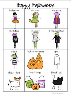 Classroom Freebies Too: Halloween Words