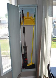Broom Storage On Pinterest Vacuum Cleaner Storage