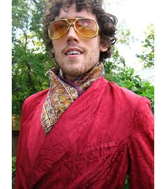 50s Smoking Jacket Satin Brocade for Men vintage by PaisleyBabylon, $48.00